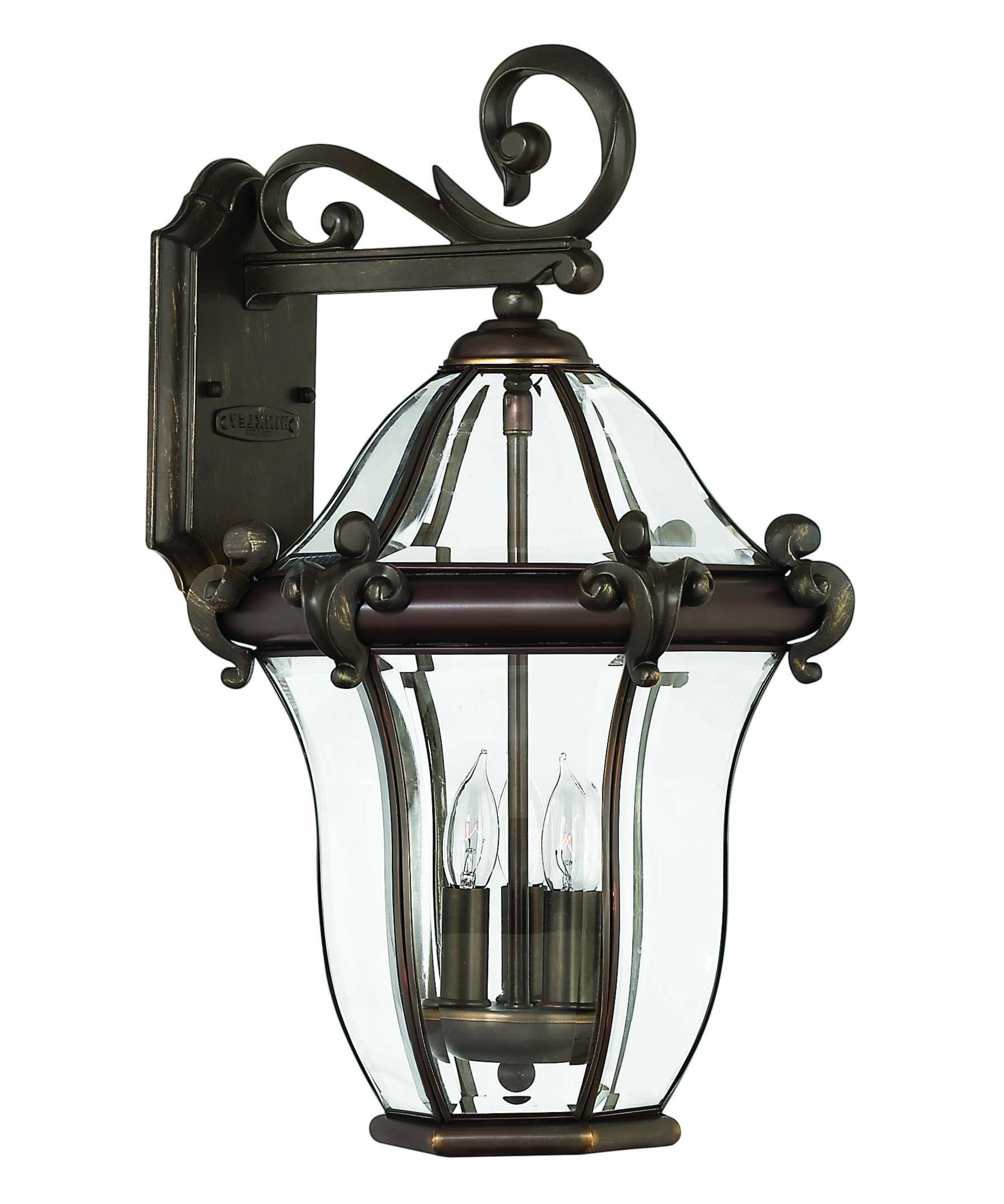 Hinkley Lighting 2444 San Clemente 12 Inch Wide 3 Light Outdoor Wall Throughout Most Recent Outdoor Wall Light Glass (View 4 of 20)