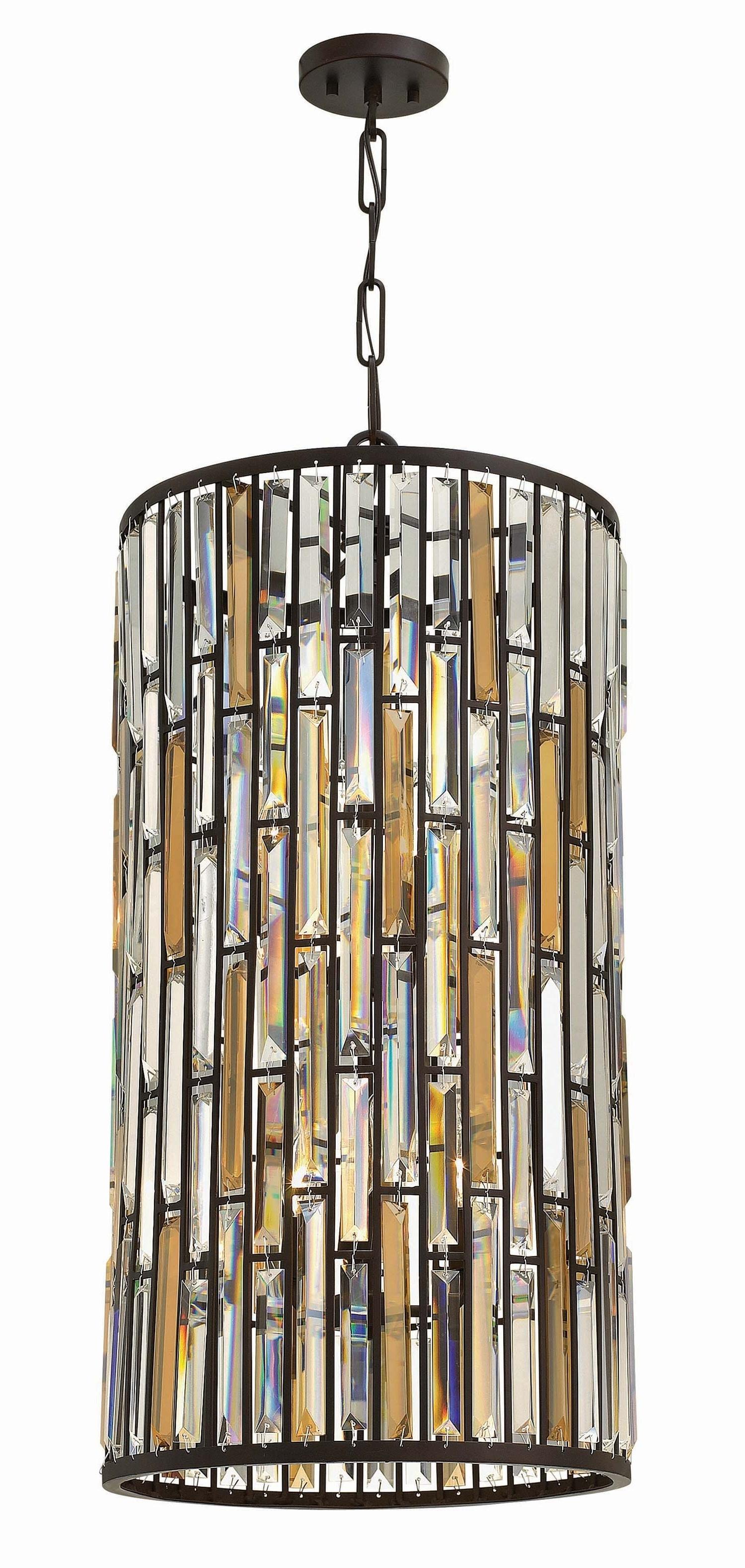 Hinkley Lighting 6 Light Gemma Foyer Iridescent Glass (View 13 of 20)