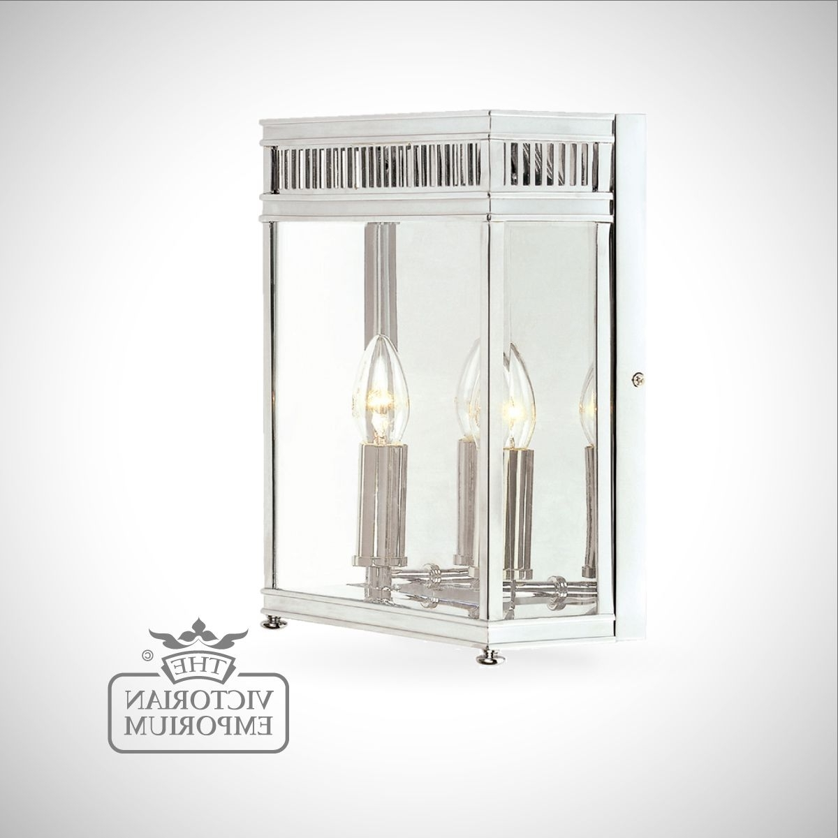 Holborn Wall Lantern In Polished Chrome – Medium (View 12 of 20)