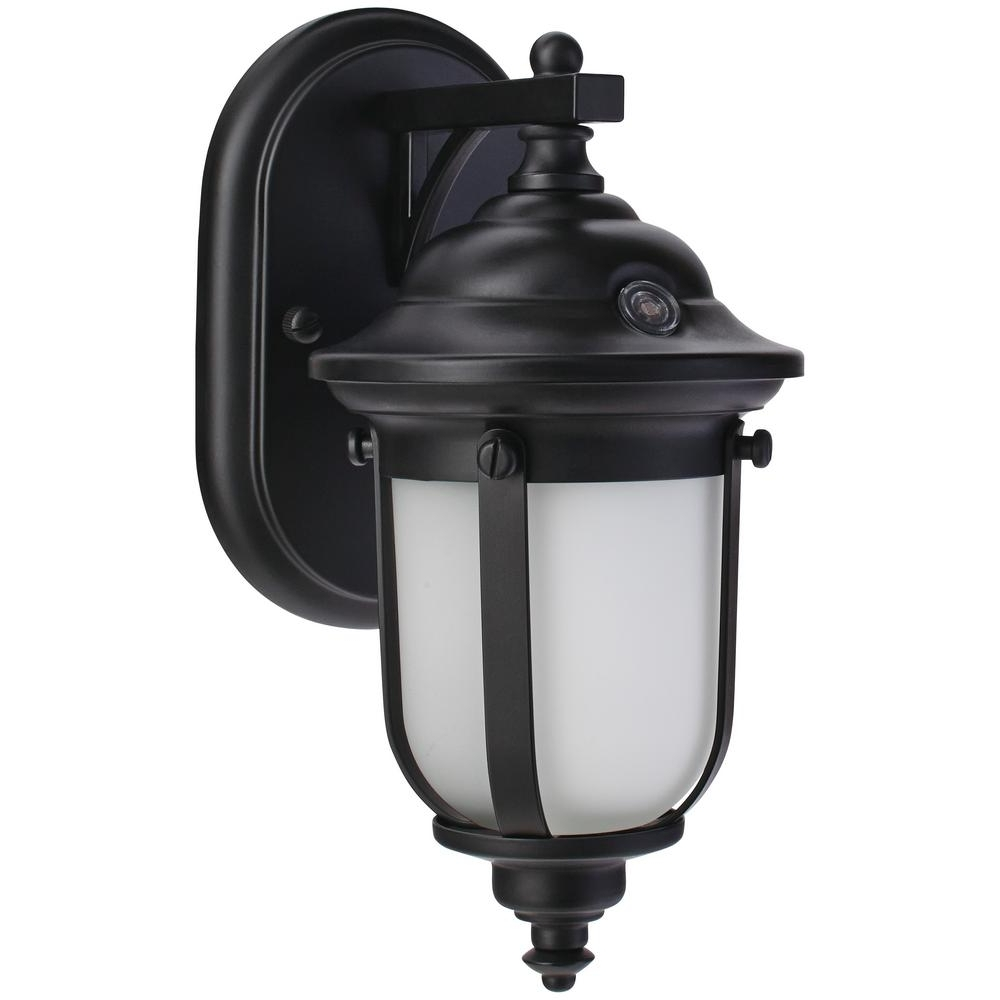Home Decorators Collection Led Small Exterior Wall Light With Dusk Within Most Recently Released Outdoor Wall Lighting With Dusk To Dawn (View 10 of 20)