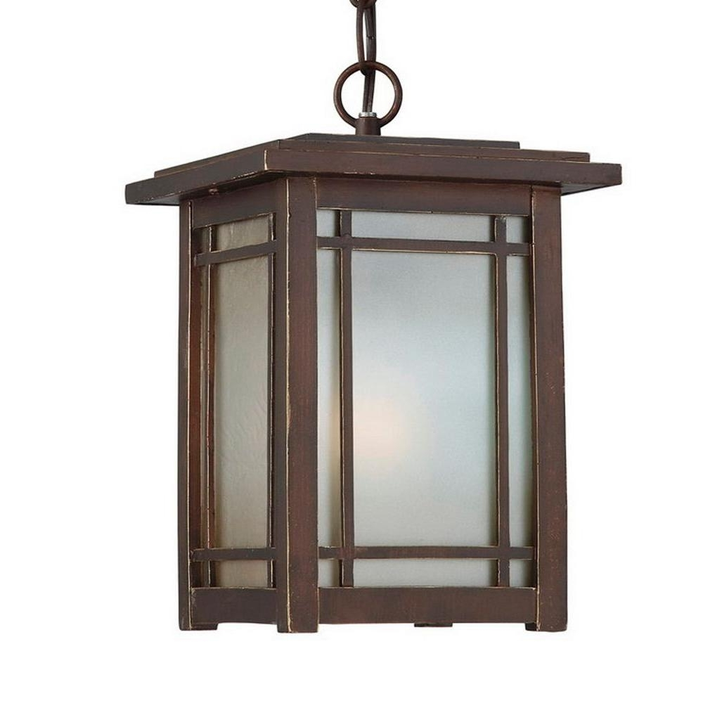 Home Decorators Collection Port Oxford 1 Light Oil Rubbed Chestnut Intended For Famous Outdoor Hanging Wall Lanterns (View 5 of 20)