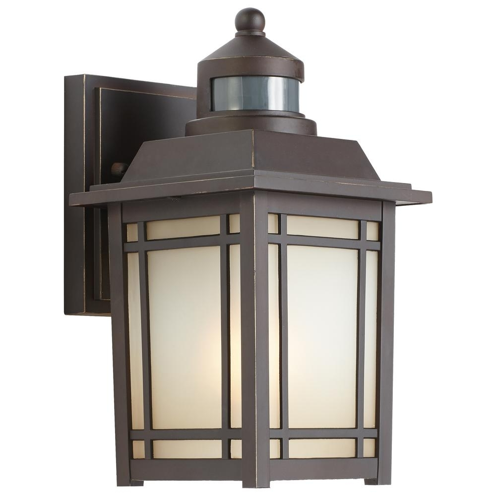 Home Decorators Collection Port Oxford 1 Light Oil Rubbed Chestnut Regarding Famous Outdoor Wall Light Fixtures With Motion Sensor (View 7 of 20)