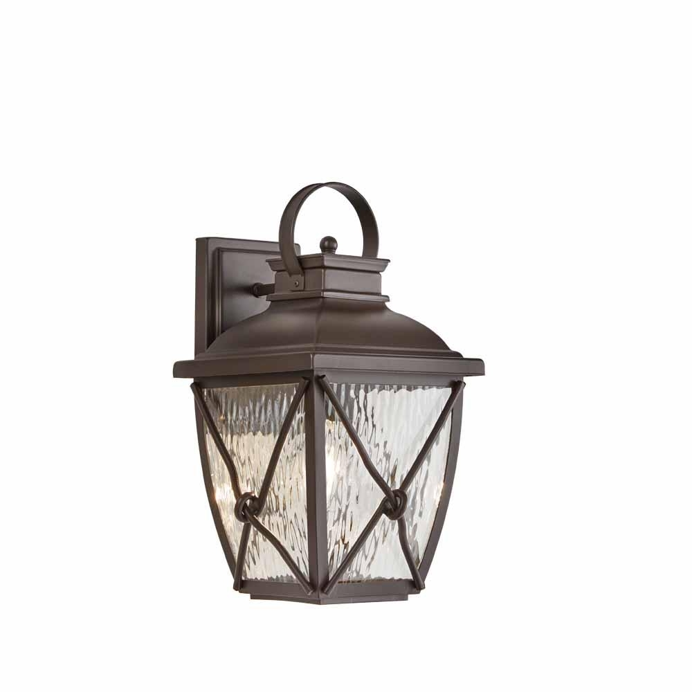 Home Decorators Collection Springbrook 1 Light Rustic Outdoor Wall Intended For Well Known Rustic Outdoor Lighting At Home Depot (View 4 of 20)