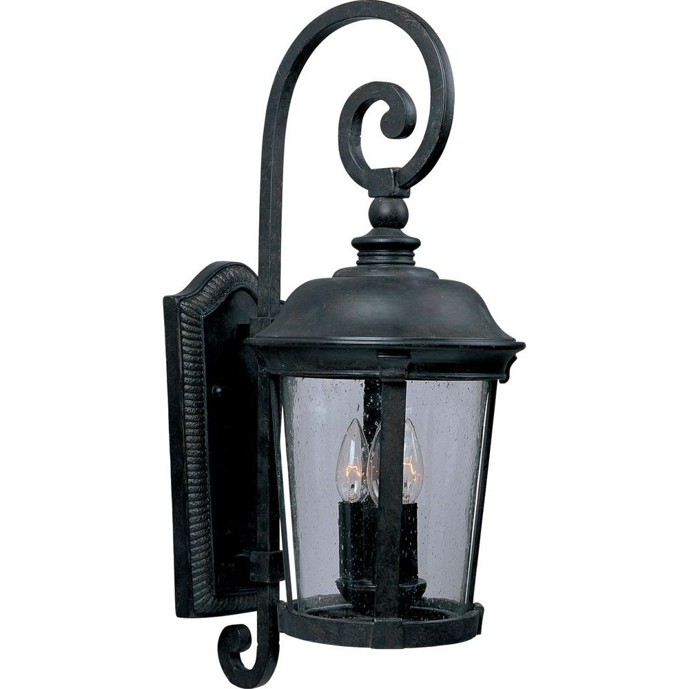 Home Decorators Collection Wesleigh 2 Light Bronze Outdoor Wall Pertaining To Popular Tropical Outdoor Wall Lighting (View 17 of 20)