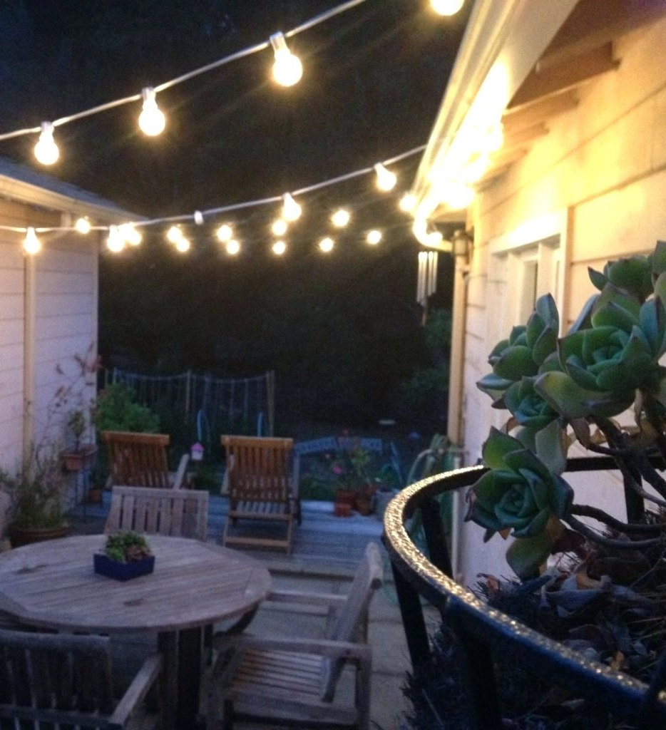 Home Depot Outdoor String Lights Intended For Most Up To Date Patio Ideas ~ Home Depot Outdoor String Lights Show Home Design With (View 8 of 20)