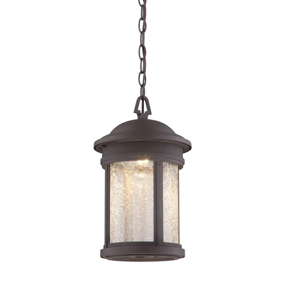 Homemade Outdoor Hanging Lights Throughout Most Current Designers Fountain Prado Oil Rubbed Bronze Outdoor Led Hanging (View 6 of 20)