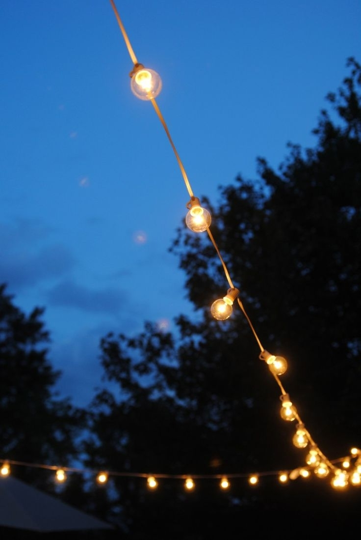 How To Hang Outdoor Lights Without Walls! What An Easy And Within Well Known Inexpensive Outdoor Hanging Lights (View 4 of 20)