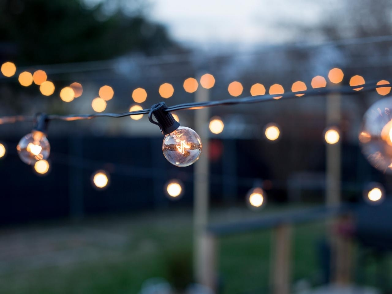How To Hang Outdoor String Lights From Diy Posts (Gallery 18 of 20)