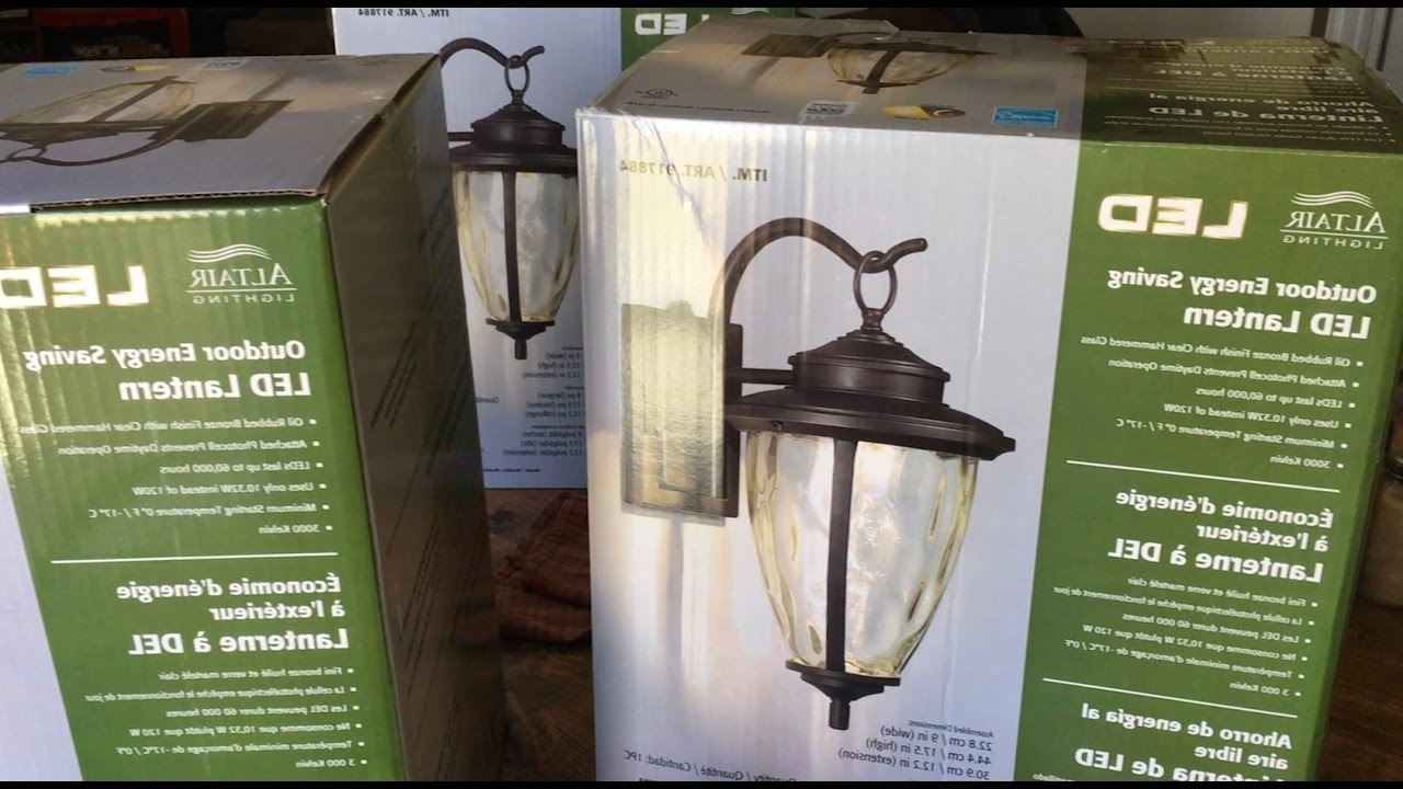 How To Install Outdoor Light Fixture – Altair Led Outdoor Energy Inside Latest Outdoor Wall Lighting At Costco (View 4 of 20)