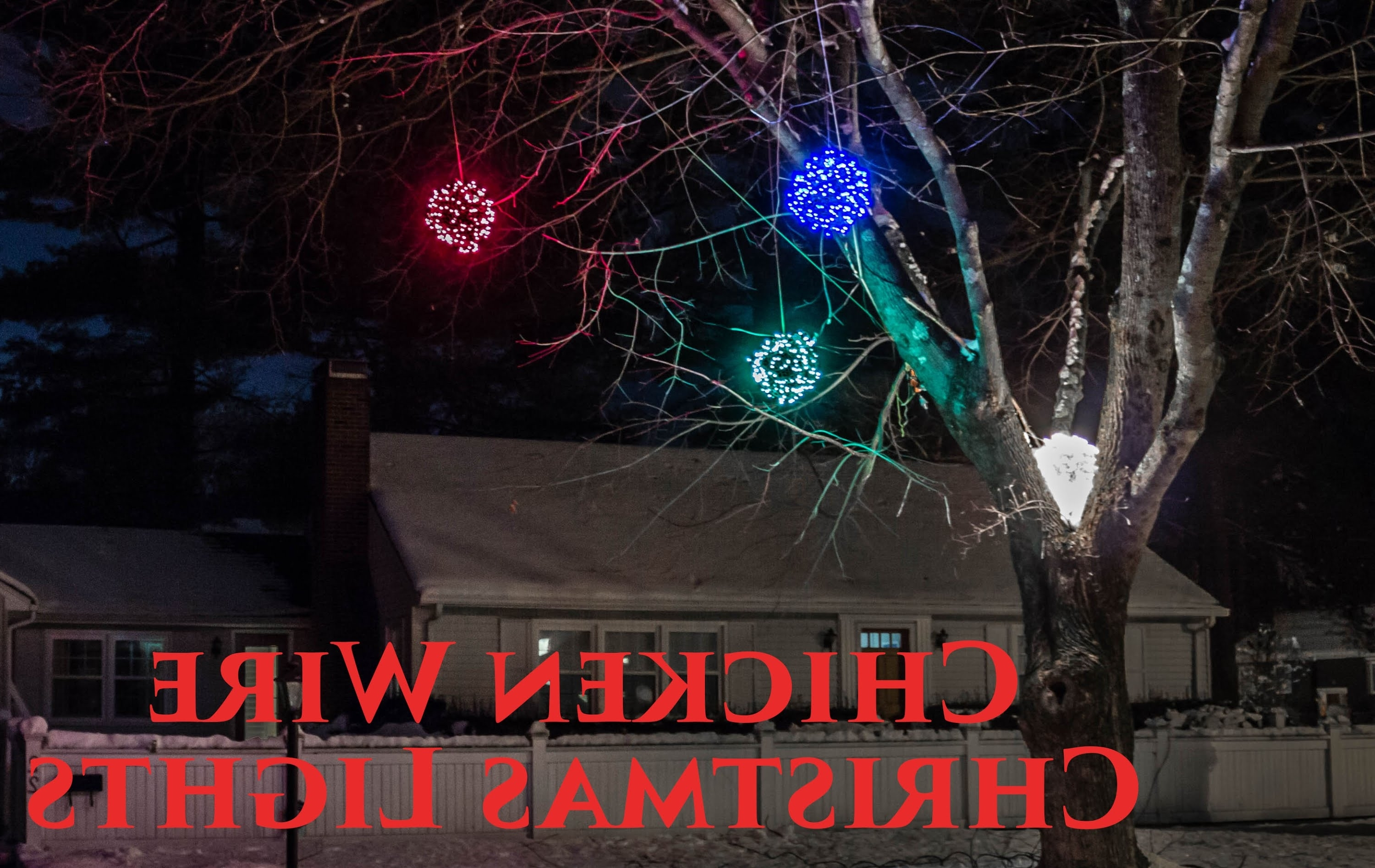 How To Make Lighted Chicken Wire Christmas Balls, Diy Outdoor Within Current Outdoor Hanging Christmas Light Balls (View 12 of 20)
