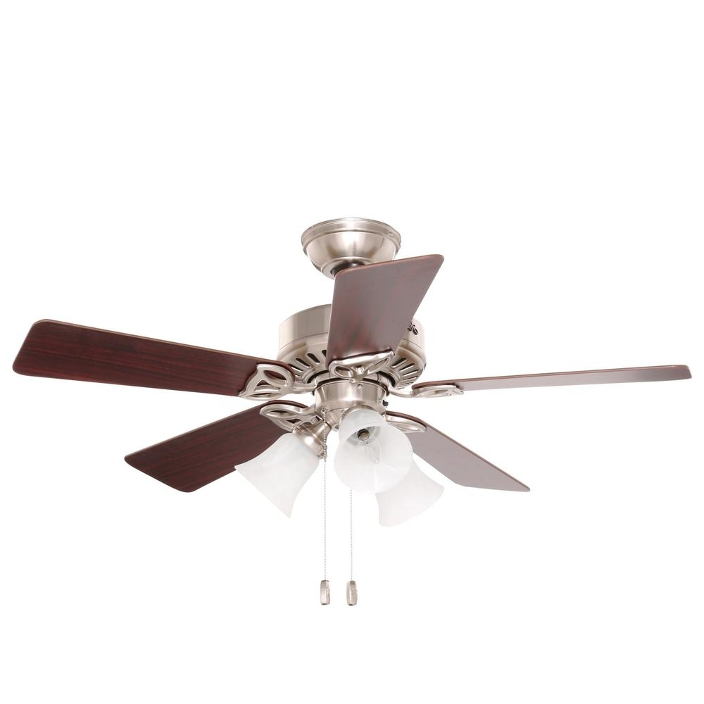 Hunter Beacon Hill 42 In. Indoor Brushed Nickel Ceiling Fan With In Well Known Outdoor Ceiling Fan Beacon Lighting (Gallery 4 of 20)