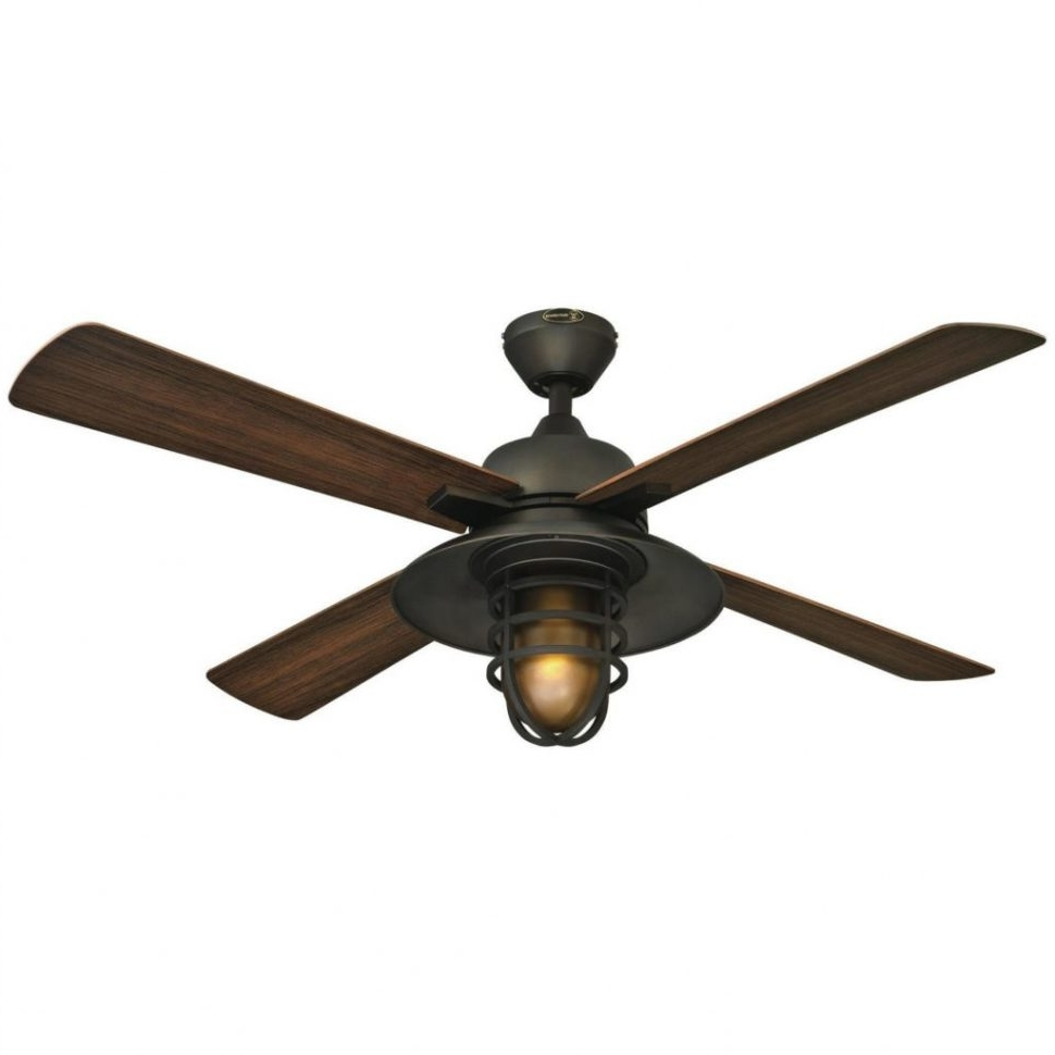Hunter Outdoor Ceiling Fans With Lights And Remote For Most Recent Ceiling Fans : Pleasant Hunter Casual Outdoor Ceiling Fan Tropical (View 13 of 20)
