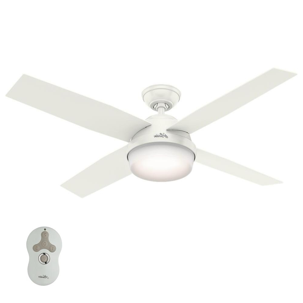 Hunter Outdoor Ceiling Fans With Lights And Remote With Regard To Most Recently Released Hunter Dempsey 52 In. Led Indoor/outdoor Fresh White Ceiling Fan (Gallery 12 of 20)