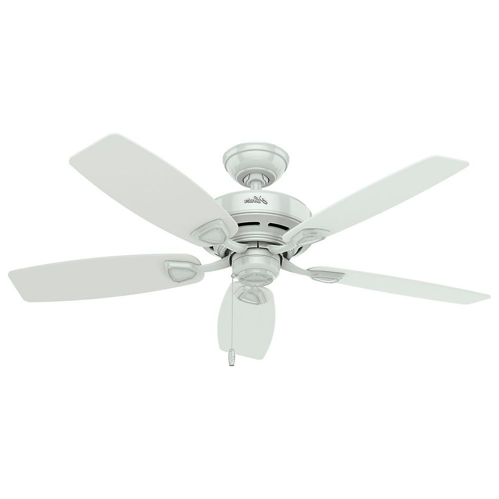 Hunter Sea Wind 48 In. Indoor/outdoor White Ceiling Fan 53350 – The Inside 2018 Outdoor Ceiling Fans Without Lights (Gallery 13 of 20)