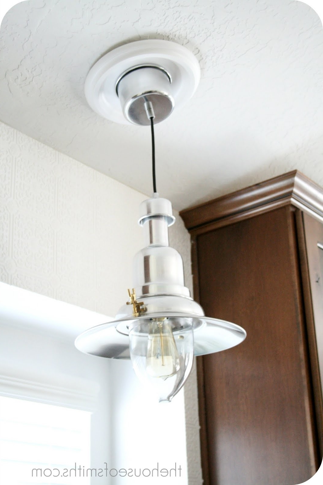 Ikea Outdoor Hanging Lights Throughout Current New Kitchen Lighting – Converting A Can Light With A Recessed Light (Gallery 19 of 20)