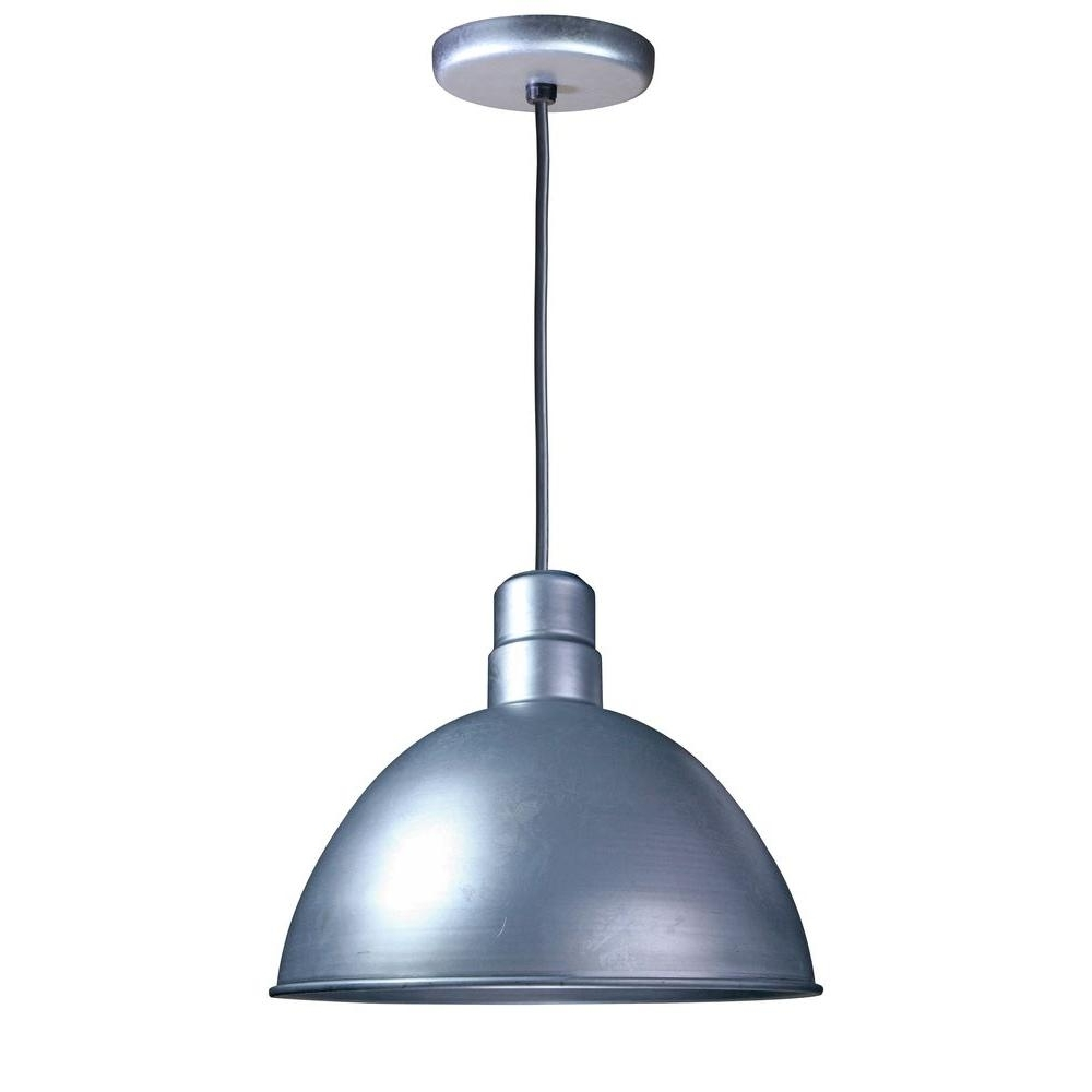 Illumine 1 Light Outdoor Hanging Galvanized Deep Bowl Pendant Cli 79 Inside Favorite Galvanized Outdoor Ceiling Lights (Gallery 4 of 20)