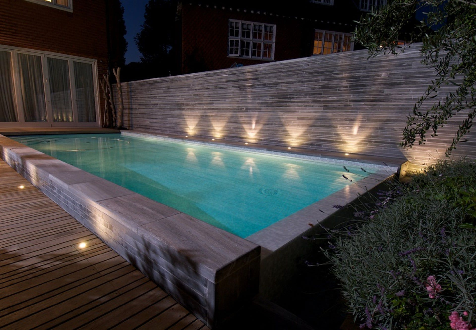 In Ground Swimming Pool / Concrete / Overflow / Outdoor – Hampstead Pertaining To 2018 Outdoor Hanging Pool Lights (View 4 of 20)