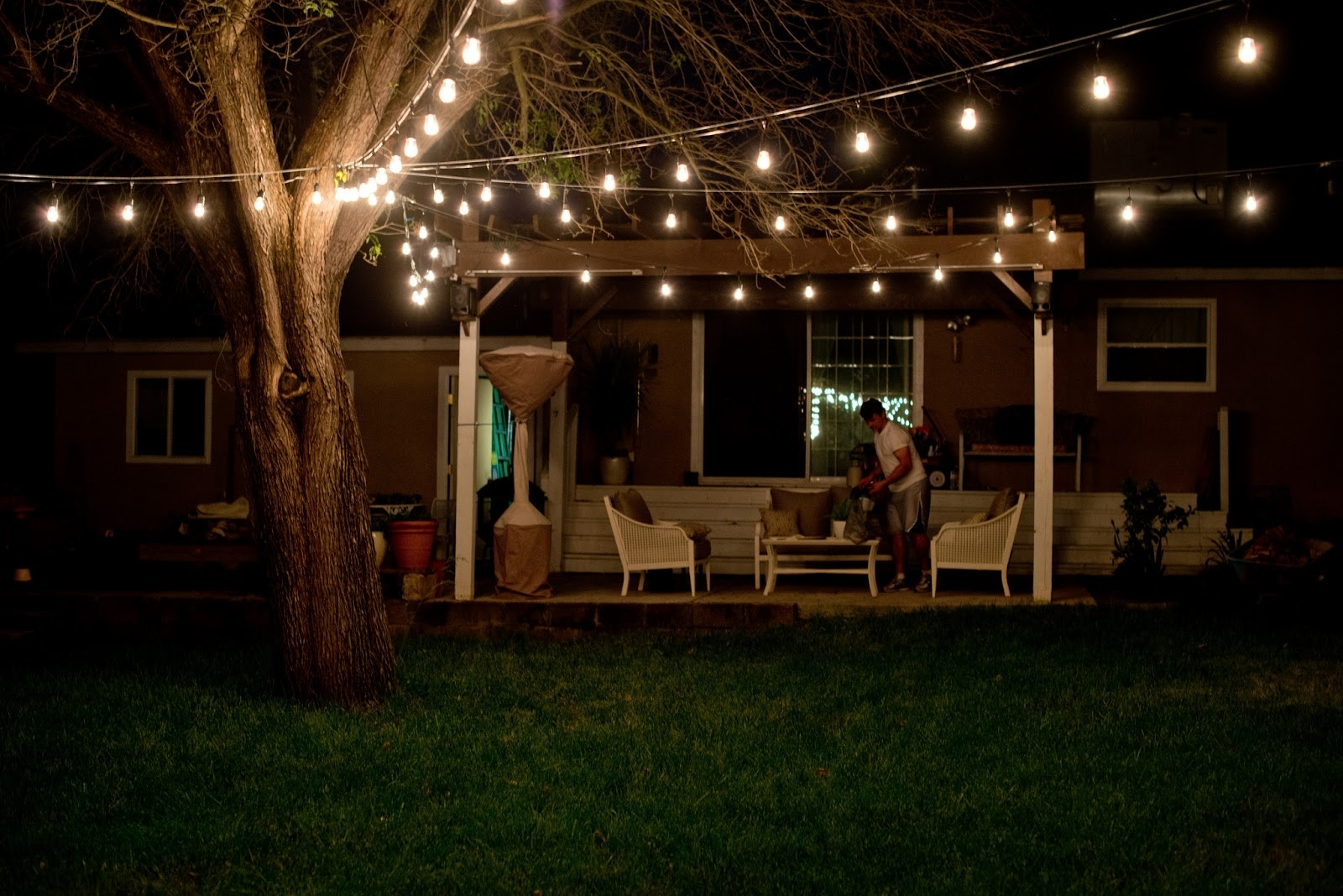 Incredible Hanging Patio Lights The Benefits Of Outdoor Patio Lights Throughout Newest Hanging Outdoor Lights In Backyard (Gallery 9 of 20)