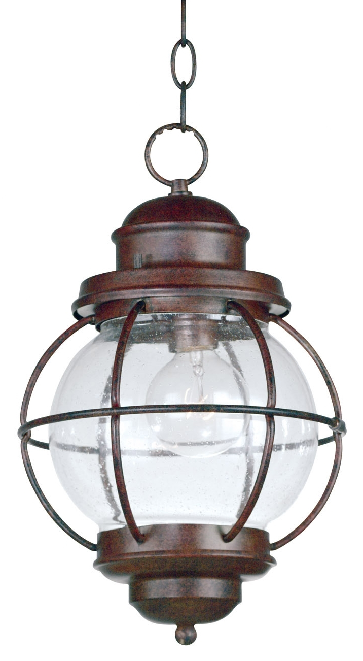Indoor Outdoor Hanging Lights Inside Latest Home 90965Gc Hatteras Indoor / Outdoor Hanging Lantern (Gallery 5 of 20)
