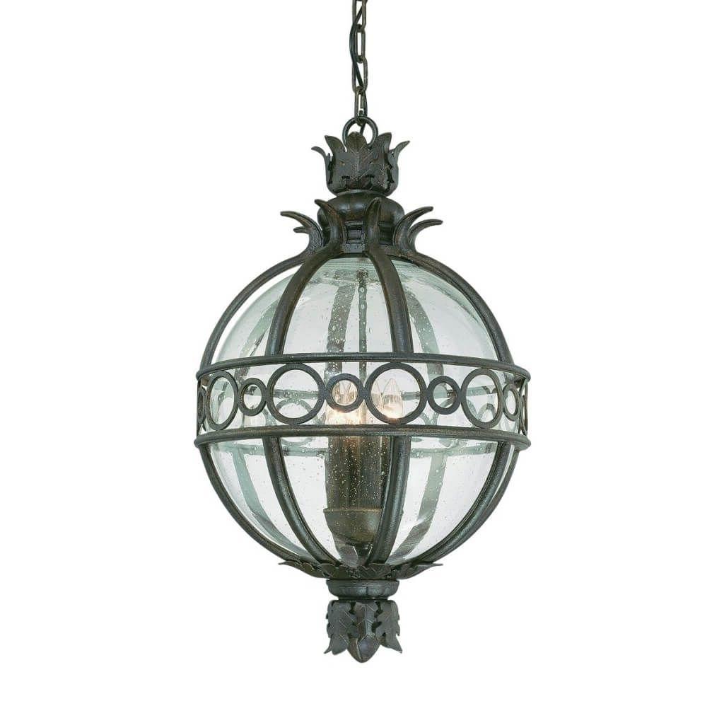 Inexpensive Outdoor Hanging Lights Regarding Current Lighting: Distinctive Globe Outdoor Pendant Light Design – The (View 15 of 20)