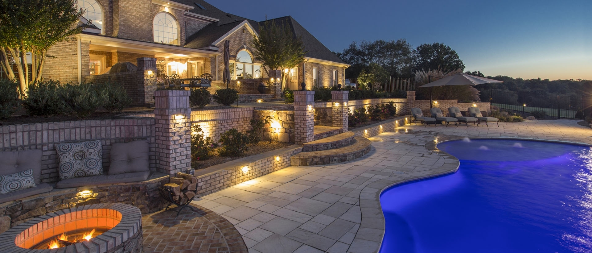 Interlock Concrete Products For Outdoor Block Wall Lighting (Gallery 13 of 20)