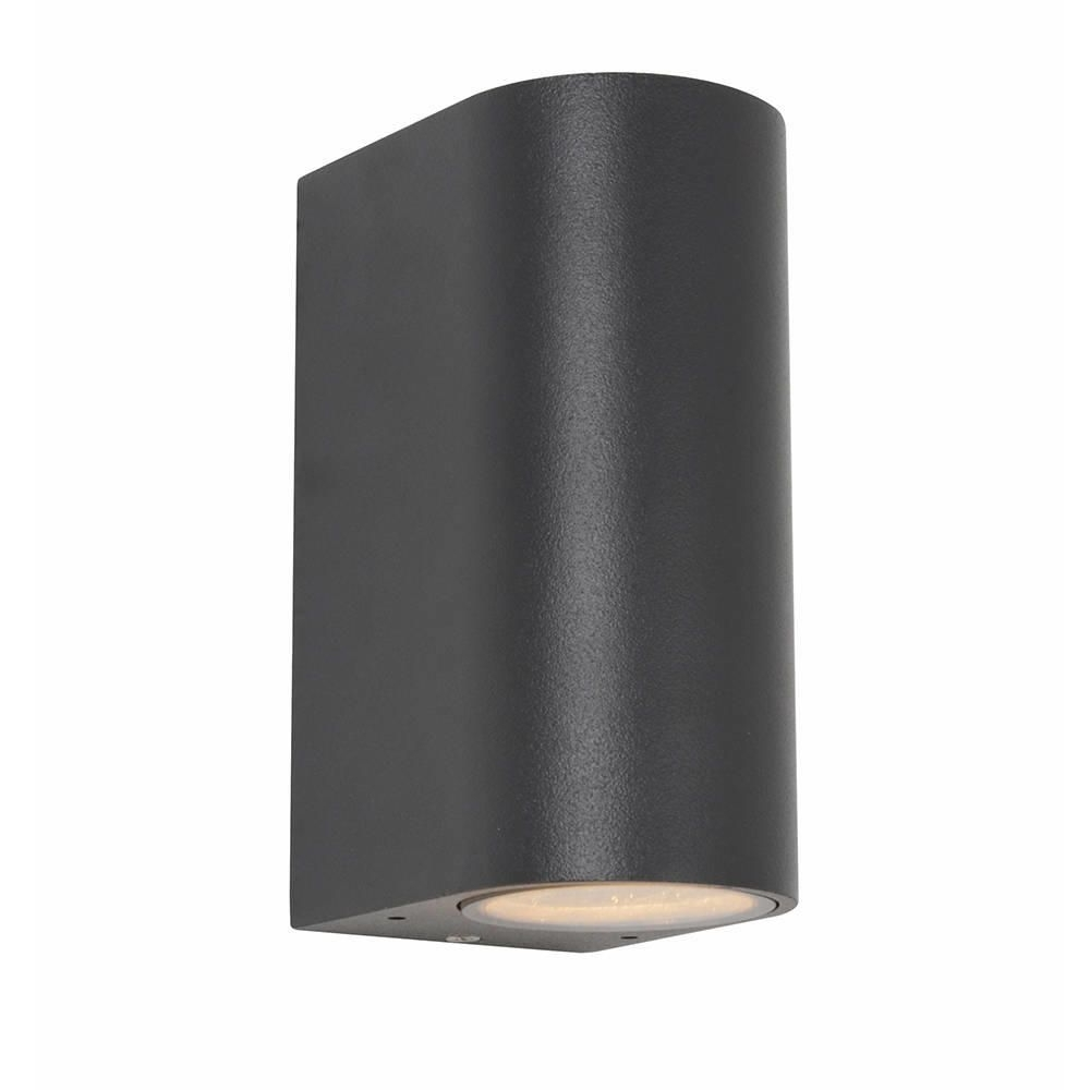 Irwell Up & Down Light Outdoor Wall Light – Black From Litecraft™ Intended For Most Recent Outside Wall Down Lights (Gallery 9 of 20)