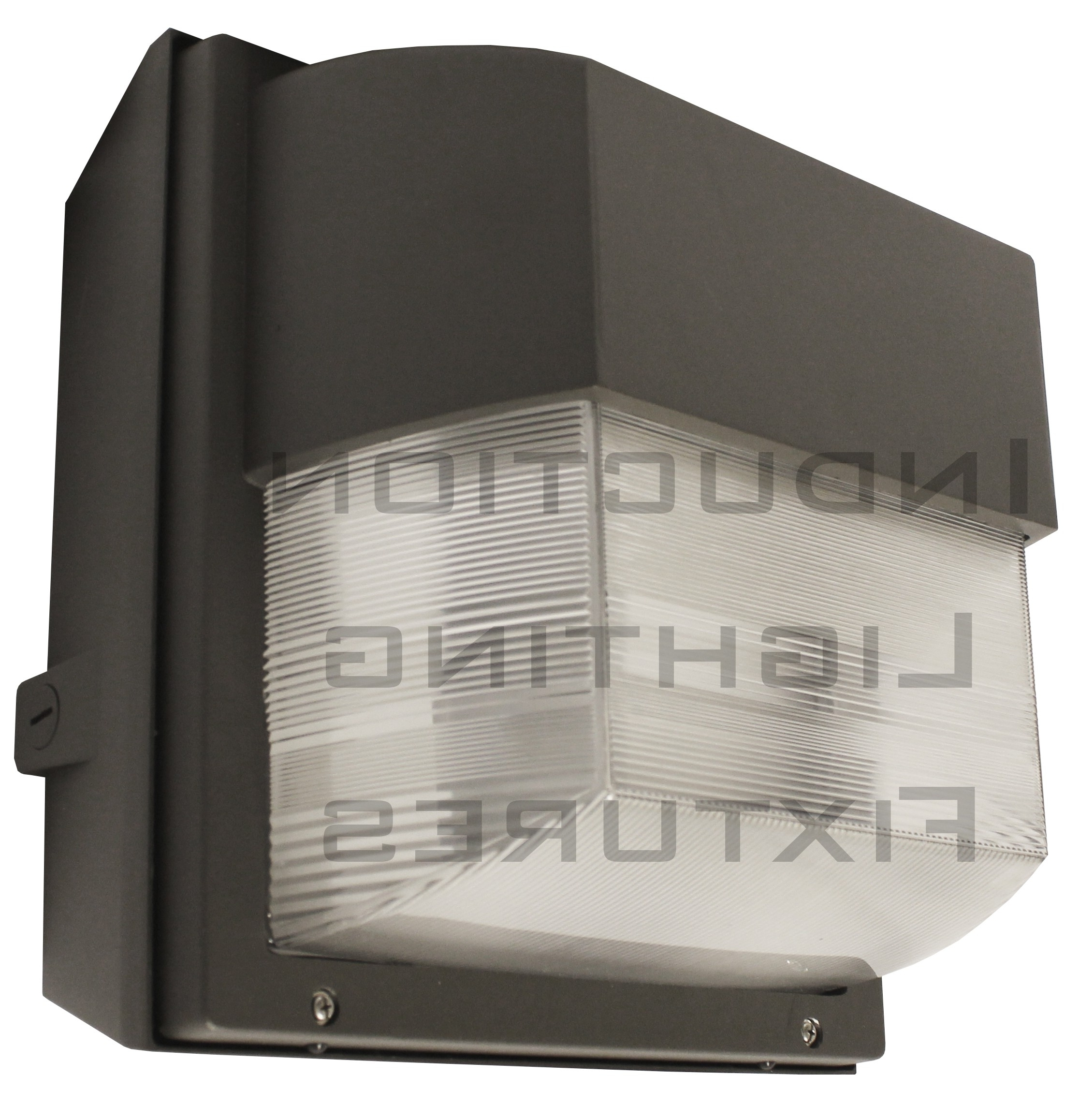 Iwh100 100 Watt Induction Outdoor Light Fixture Prismatic Square Throughout 2019 Outdoor Wall Pack Lighting (View 7 of 20)