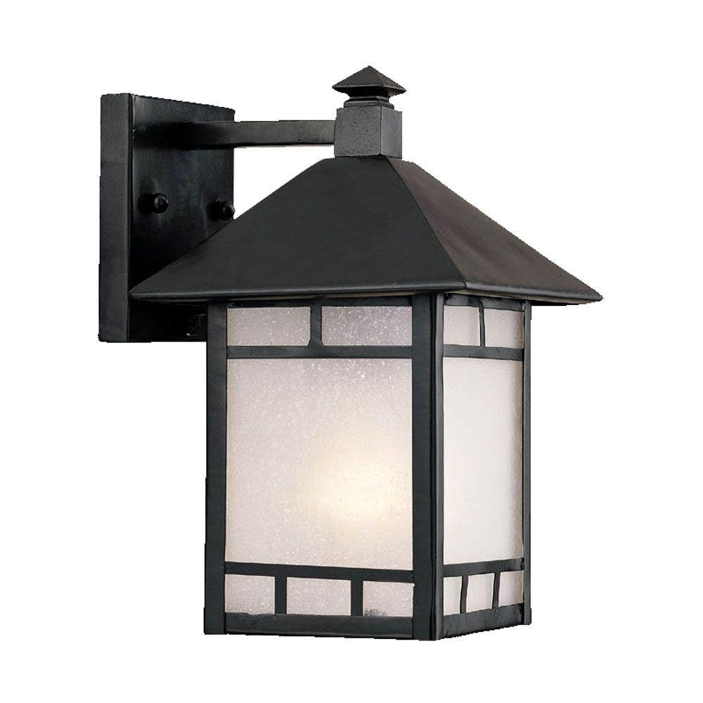 Japanese Outdoor Wall Lighting Pertaining To Widely Used Acclaim Lighting Artisan Collection 1 Light Matte Black Outdoor Wall (View 9 of 20)