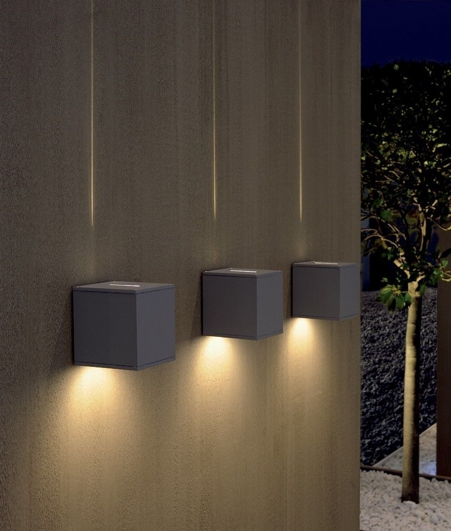 Johannesburg Outdoor Wall Lights In Most Up To Date Dual Beam Cube Light (Gallery 6 of 20)
