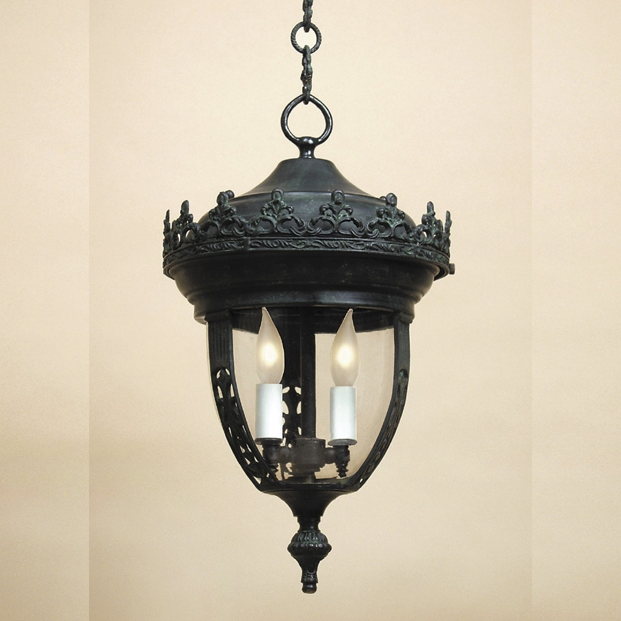 Jvi Designs 1106 2 Candle Traditional Outdoor Hanging Light With Regarding Most Current Traditional Outdoor Hanging Lights (Gallery 17 of 20)
