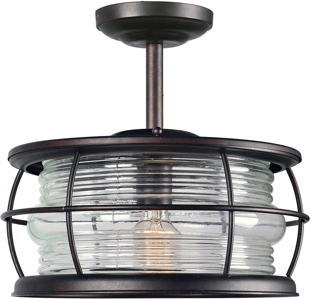 Kenroy Home 90954Gc Beacon Nautical Gilded Copper Outdoor Ceiling Inside Best And Newest Copper Outdoor Ceiling Lights (View 14 of 20)