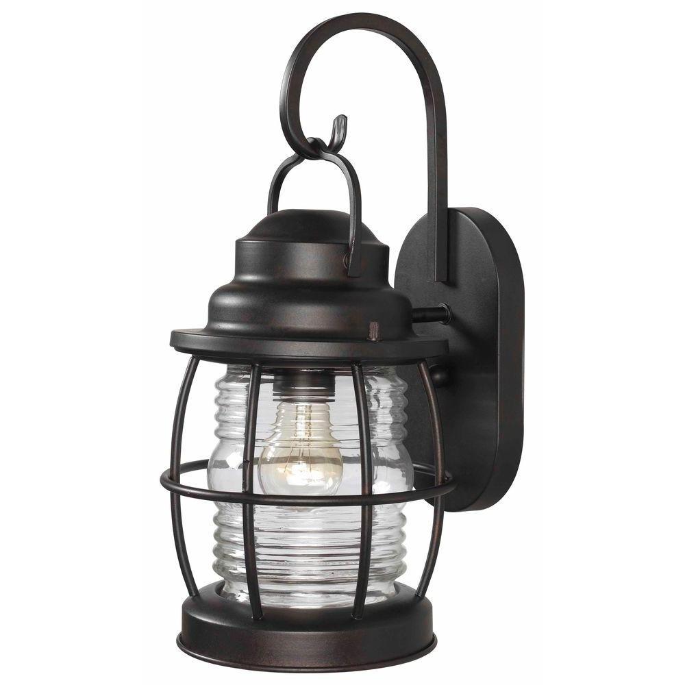 Kenroy Home Beacon 1 Light Gilded Copper Medium Wall Lantern 90952Gc In 2019 Beacon Outdoor Wall Lighting (View 13 of 20)