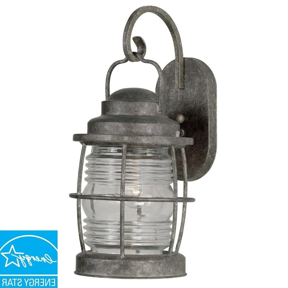 Kenroy Home Beacon Flint Large Indoor And Outdoor Wall Lantern In Well Known Beacon Outdoor Wall Lighting (View 17 of 20)