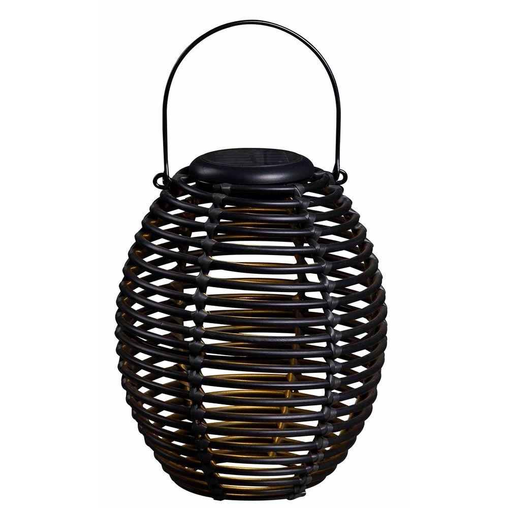 Kenroy Home Coil 10 In. Solar Lantern 60530Rat – The Home Depot In Famous Ikea Outdoor Hanging Lights (Gallery 16 of 20)