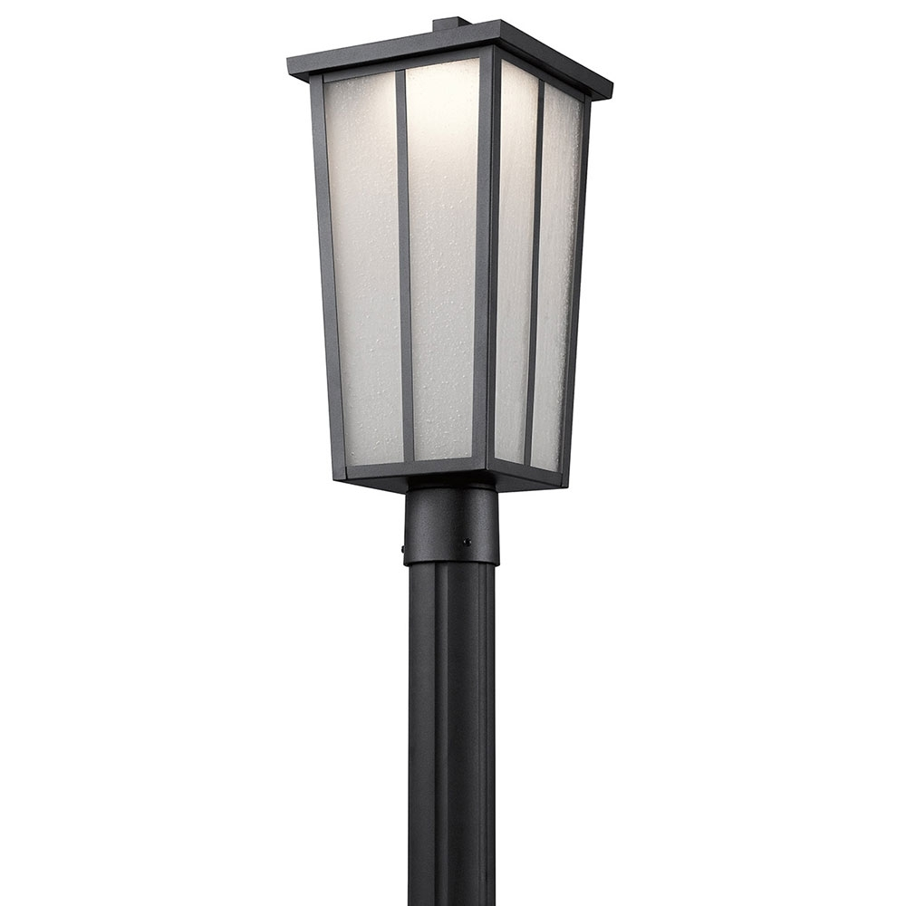Kichler 49625bktled Amber Valley Textured Black Led Exterior Inside Latest Outdoor Post Lights Kichler Lighting (View 11 of 20)