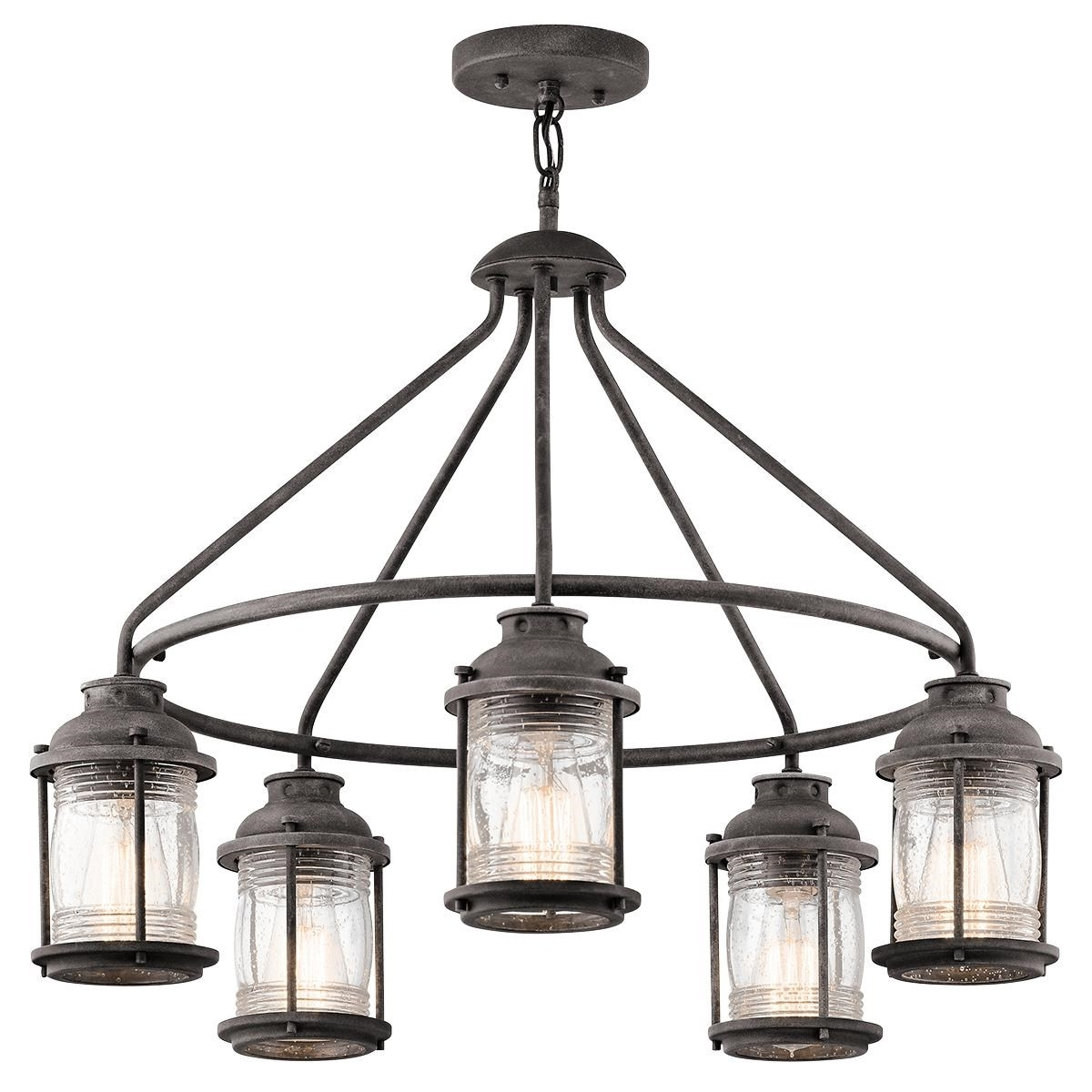 Kichler 49667Wzc Ashland Bay Outdoor Pendant Light In Weathered Zinc With 2019 Outdoor Pendant Kichler Lighting (View 17 of 20)