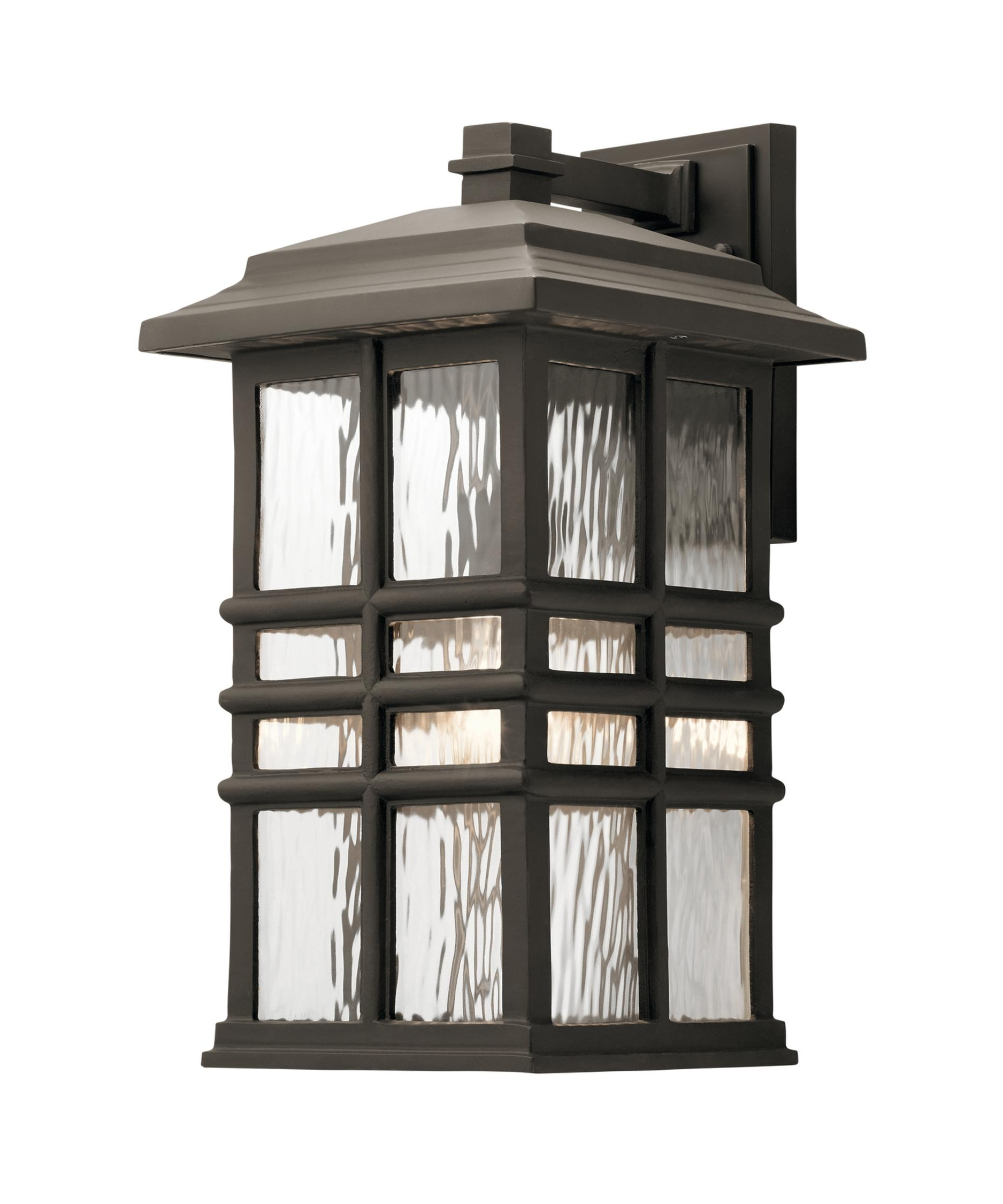 Kichler 49831 Beacon Square 10 Inch Wide 1 Light Outdoor Wall Light Pertaining To Recent Beacon Outdoor Wall Lighting (View 11 of 20)