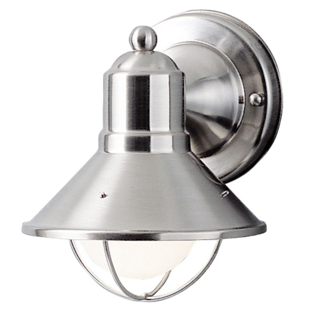 Kichler 7 1/2 Inch Nautical Outdoor Wall Light With Led Bulb Pertaining To Fashionable Outdoor Wall Lighting At Kichler (View 19 of 20)