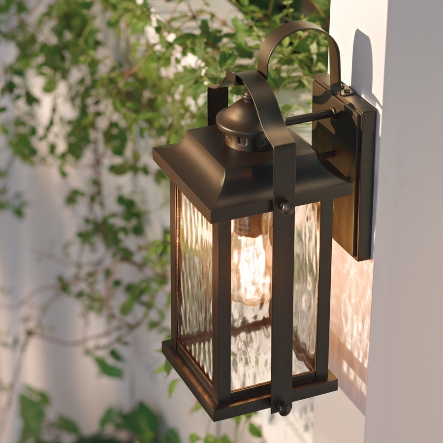 Kichler Lighting Outdoor Wall Lanterns Pertaining To 2018 Shop Kichler Lighting Linford 15 In H Olde Bronze Outdoor Wall Light (View 9 of 20)