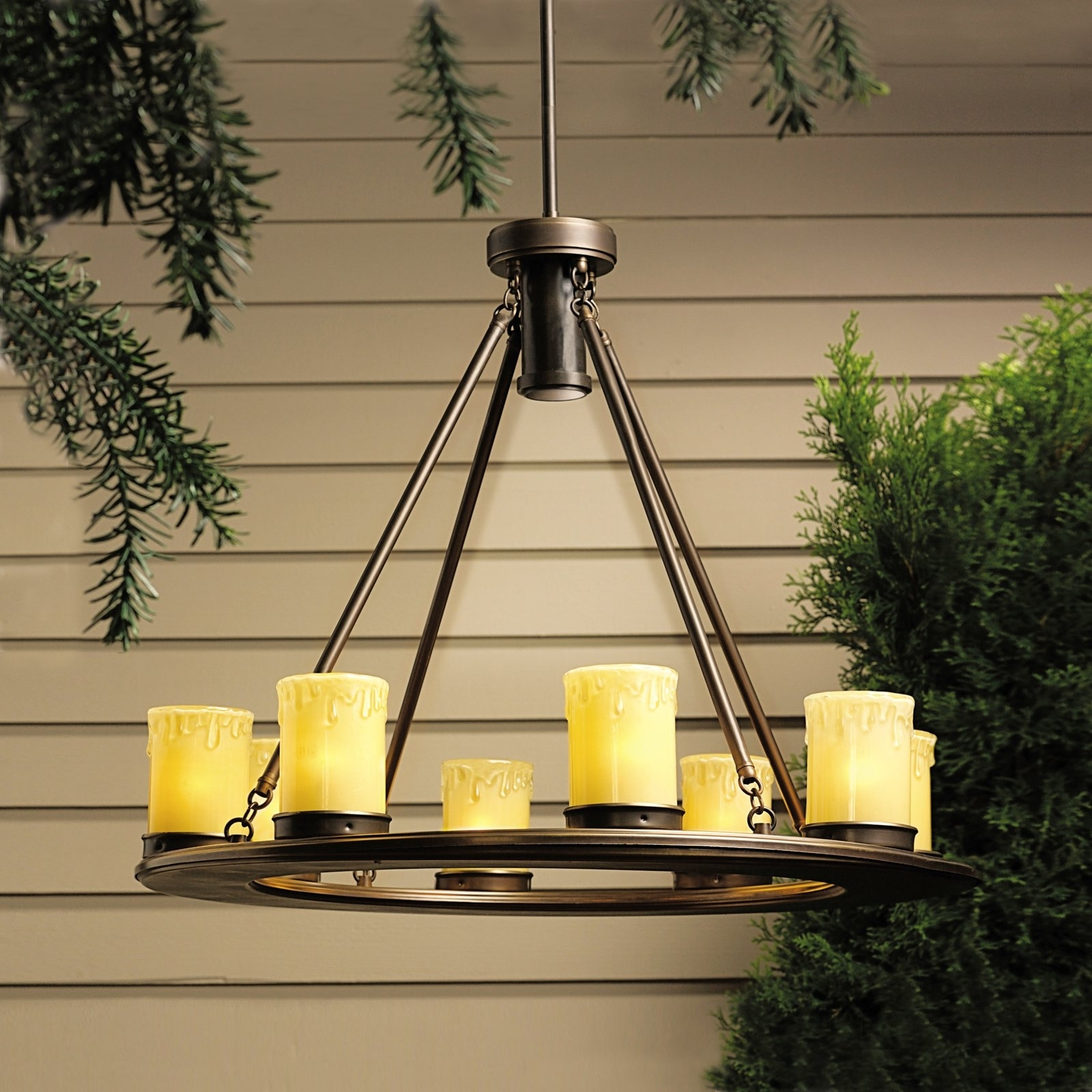 Kichler Oak Trail™ 12 Volt Outdoor Chandelier – Walmart With Regard To Latest Outdoor Chandelier Kichler Lighting (View 9 of 20)
