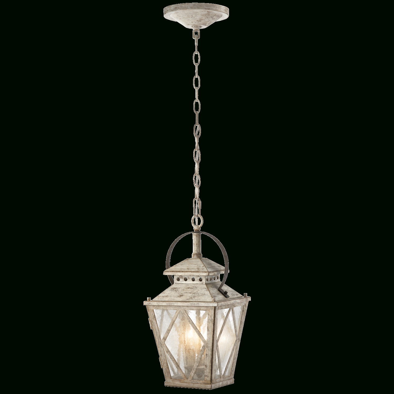 Kichler Outdoor Hanging Lights Inside Well Known 2 Light Pendant (43258daw) Distressed Antique White (View 17 of 20)