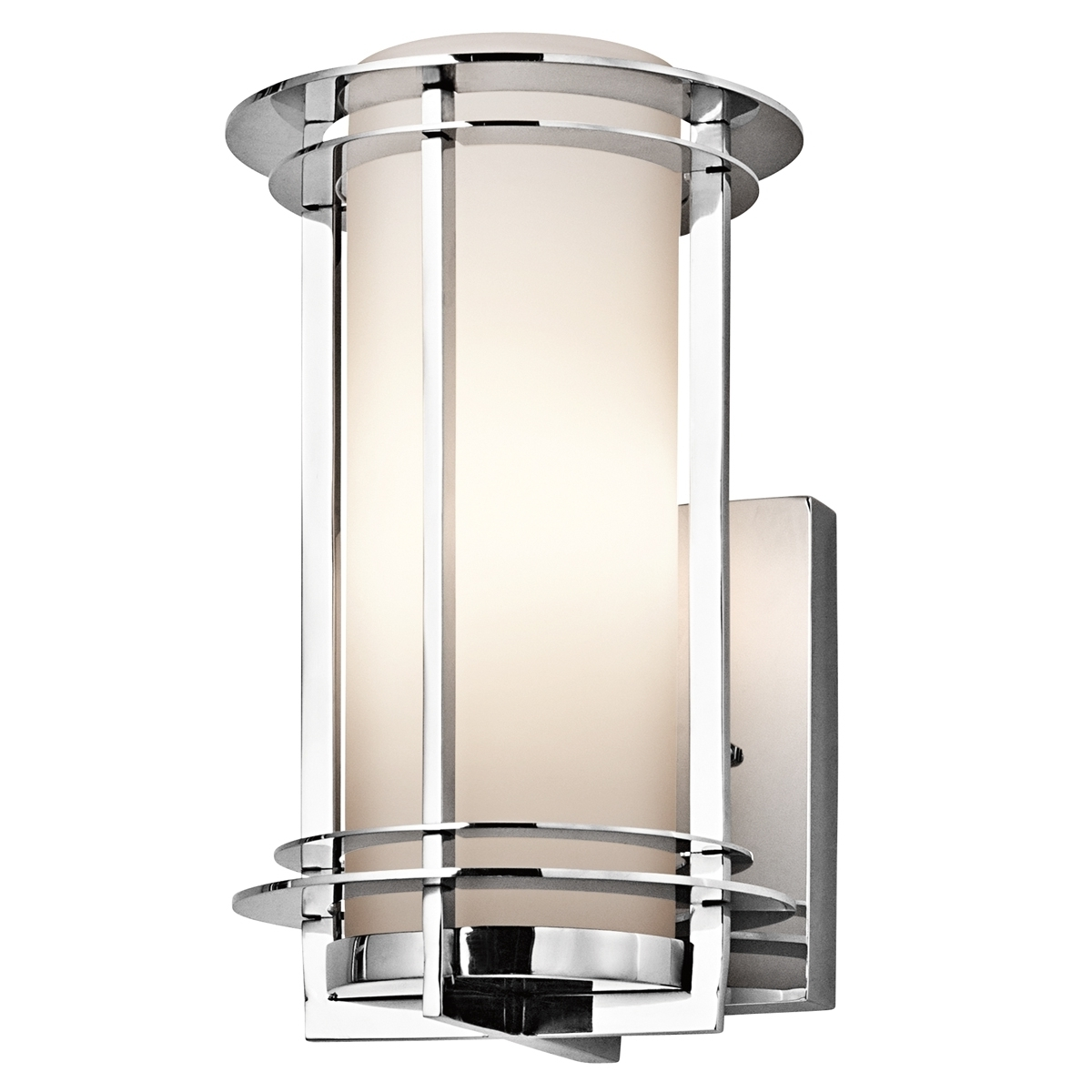 Kichler Outdoor Lighting Wall Sconce • Wall Sconces Inside Most Recently Released Chrome Outdoor Wall Lighting (View 13 of 20)