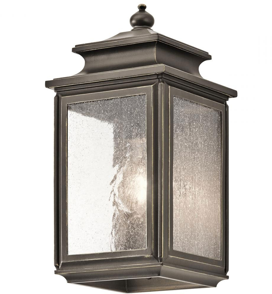 Kichler Outdoor Lighting Wall Sconces With Trendy Kichler 49501oz Wiscombe Park Olde Bronze Outdoor Lighting Wall (View 3 of 20)