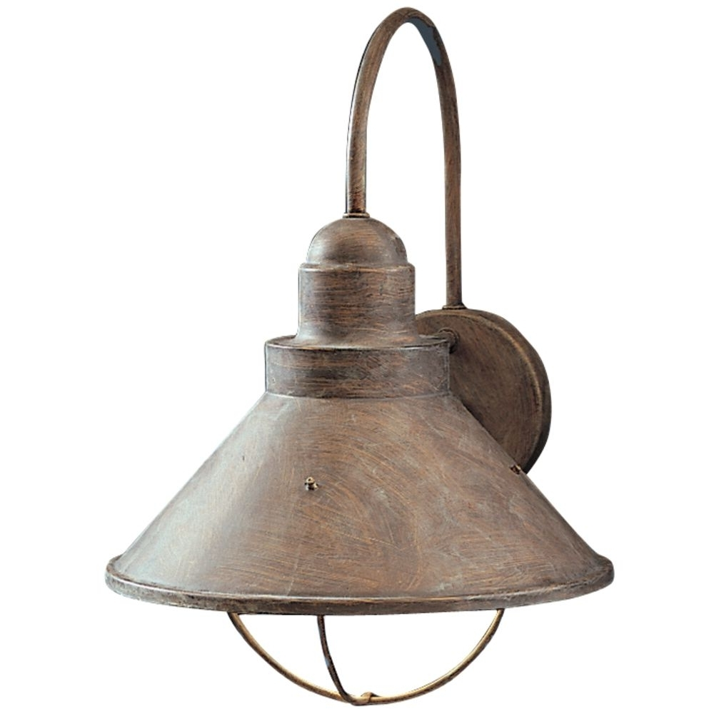 Kichler Outdoor Wall Light In Olde Brick Finish (Gallery 5 of 20)