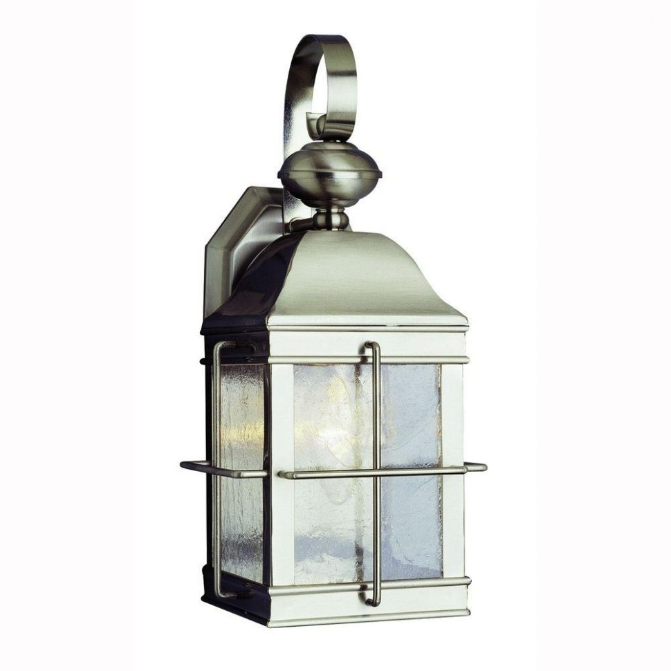 Kitchen : Brushed Nickel Outdoor Lighting Brushed Nickel Outdoor Within 2018 Brushed Nickel Outdoor Wall Lighting (View 8 of 20)