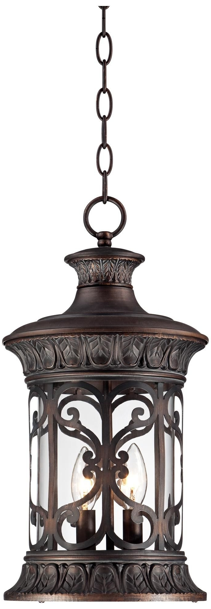 """Lamps Plus Outdoor Hanging Lights Intended For Most Recently Released John Timberland 18"""" High Bronze Outdoor Hanging Light (View 6 of 20)"""