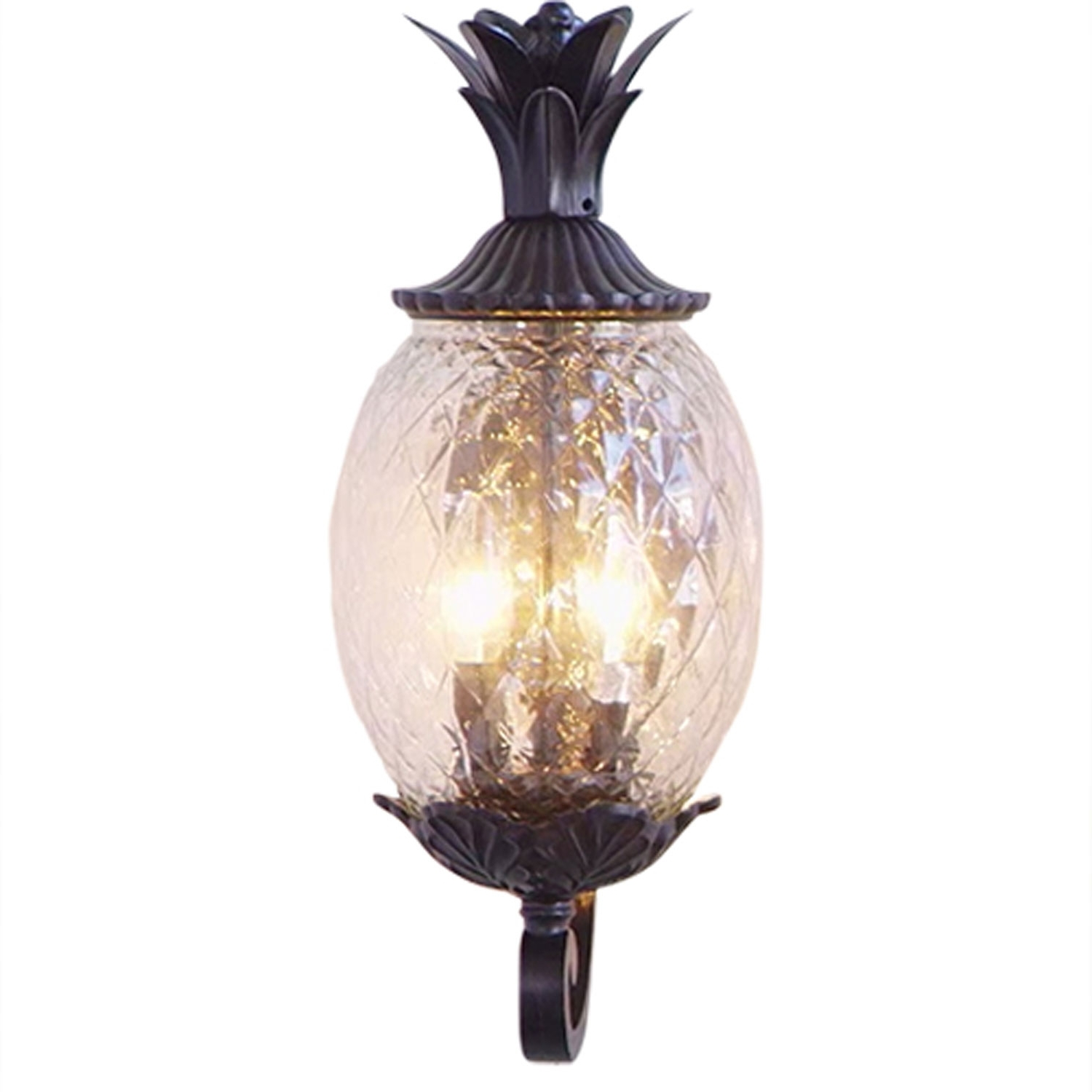 Lanai Black Coral Two Light 18 Inch Outdoor Wall Mount Acclaim In Recent Pineapple Outdoor Wall Lights (View 15 of 20)