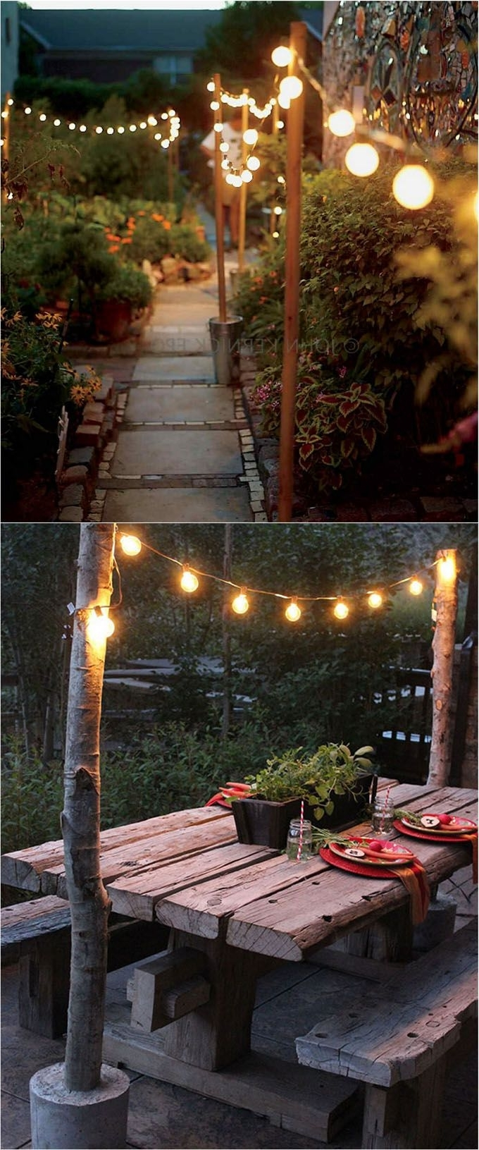 Landscaping, Backyard Inside 2018 Diy Outdoor Hanging Lights (View 18 of 20)