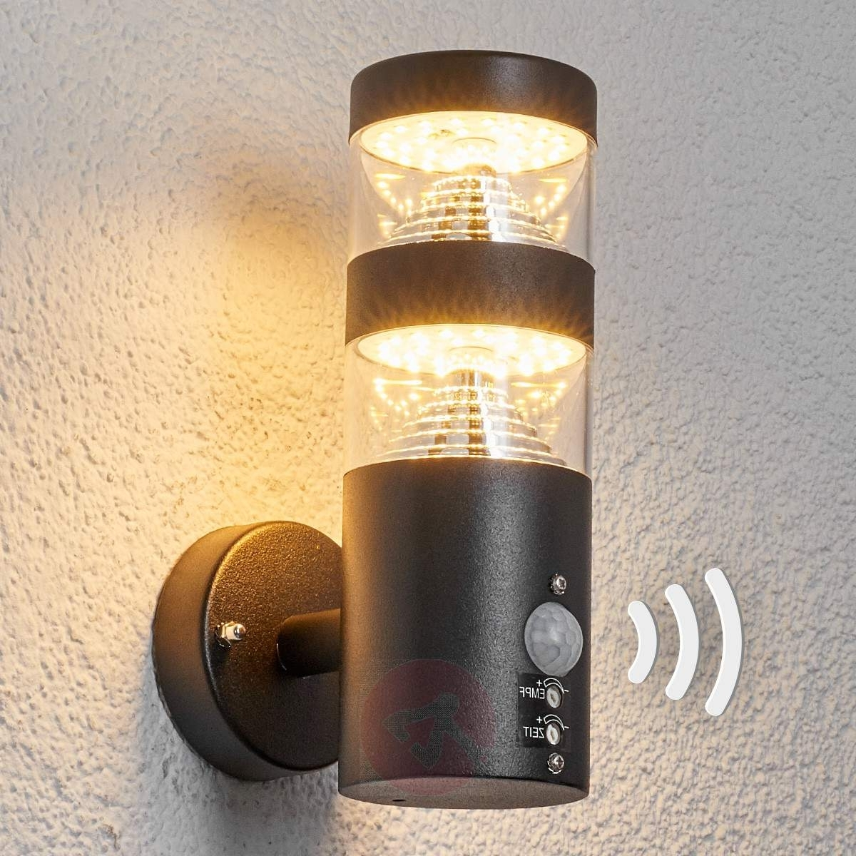 Lanea Sensor Outdoor Wall Light With Led (View 2 of 20)
