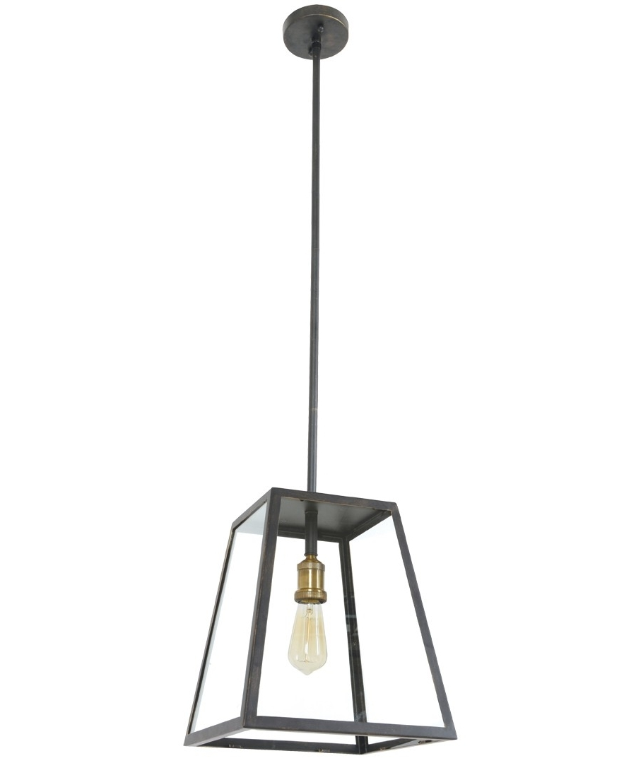 Large Outdoor Ceiling Lights With Regard To Latest Southampton 1 Light Large Exterior Pendant In Antique Black (View 7 of 20)